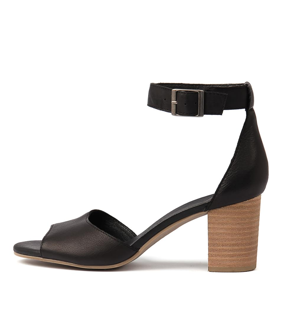 Buy Django & Juliette Sherwin Black Heeled Sandals online with free shipping