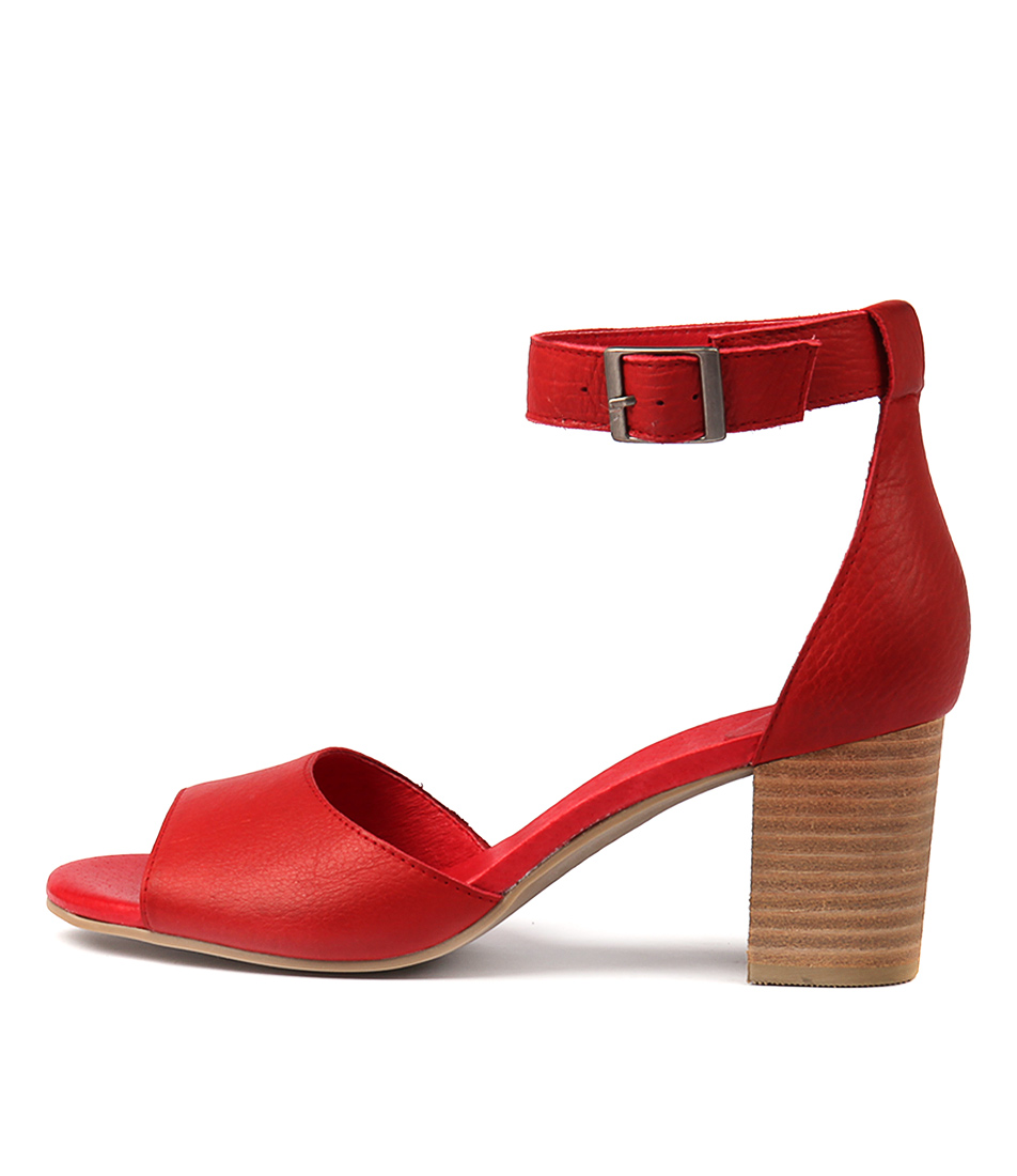 Buy Django & Juliette Sherwin Red Heeled Sandals online with free shipping