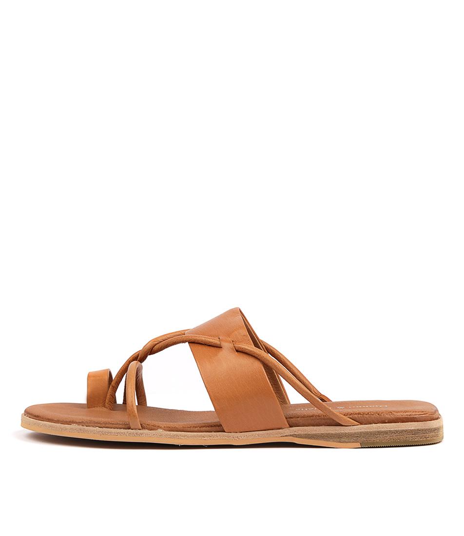 Buy Django & Juliette Taniela Tan Flat Sandals online with free shipping