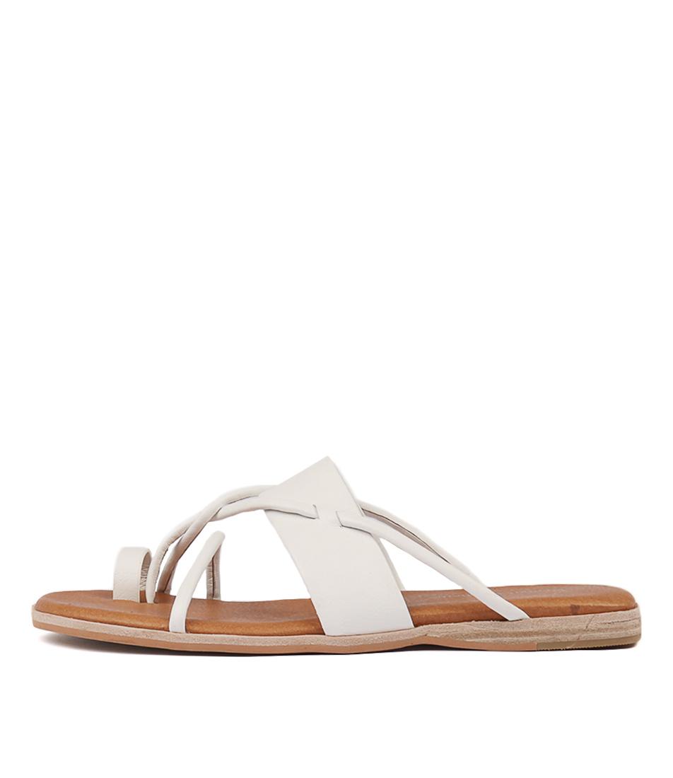 Buy Django & Juliette Taniela White Flat Sandals online with free shipping