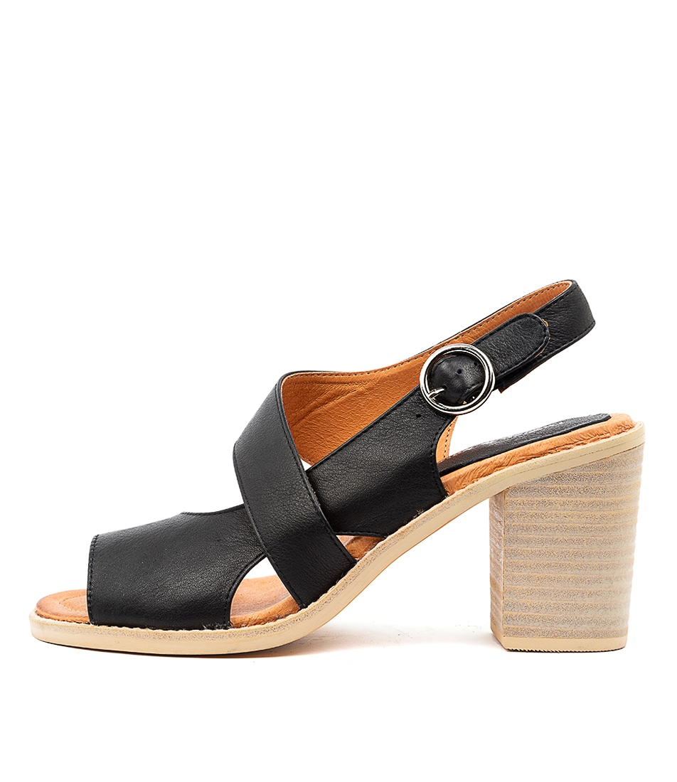 Buy Django & Juliette Tavaris Black Heeled Sandals online with free shipping