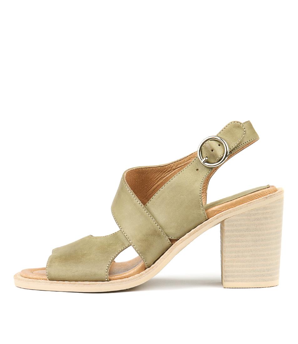 Buy Django & Juliette Tavaris Khaki Heeled Sandals online with free shipping