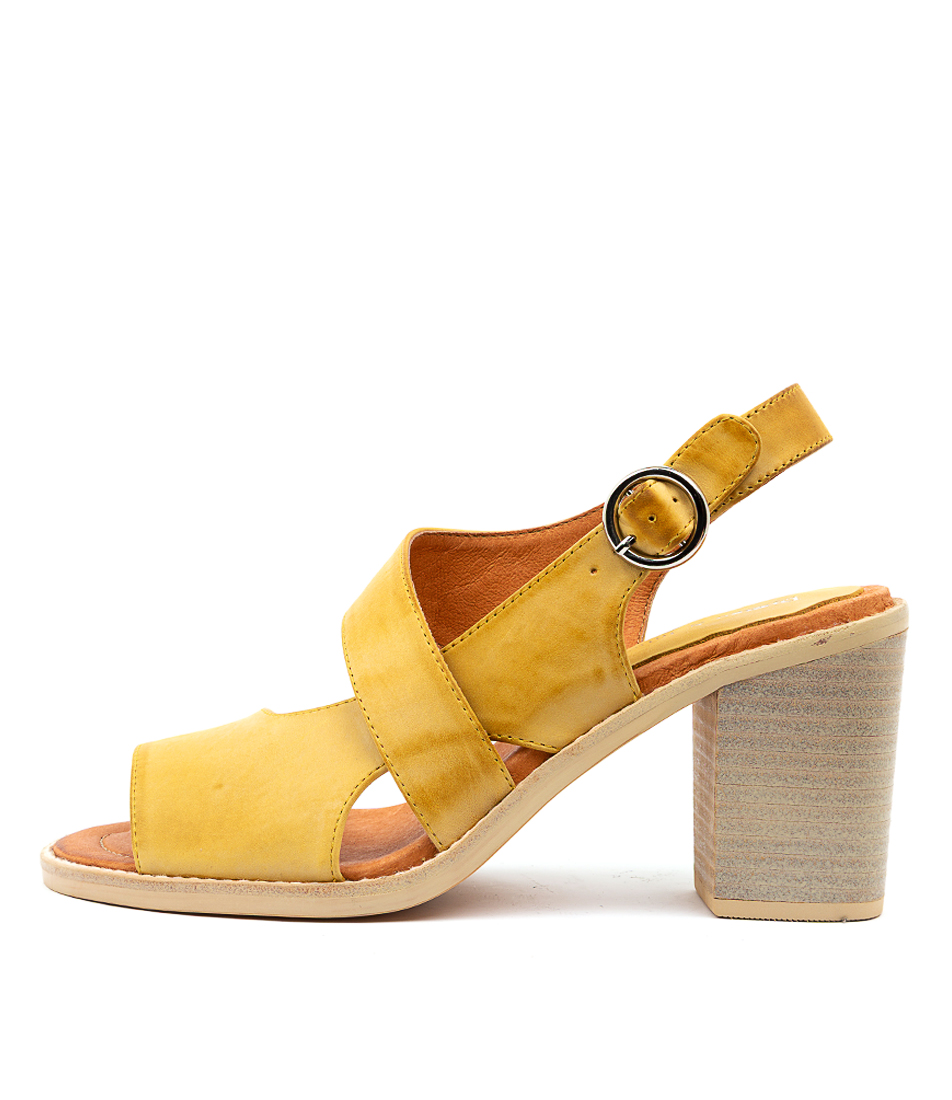Buy Django & Juliette Tavaris Yellow Heeled Sandals online with free shipping