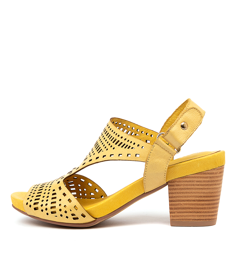 Buy Django & Juliette Zollie Yellow Heeled Sandals online with free shipping