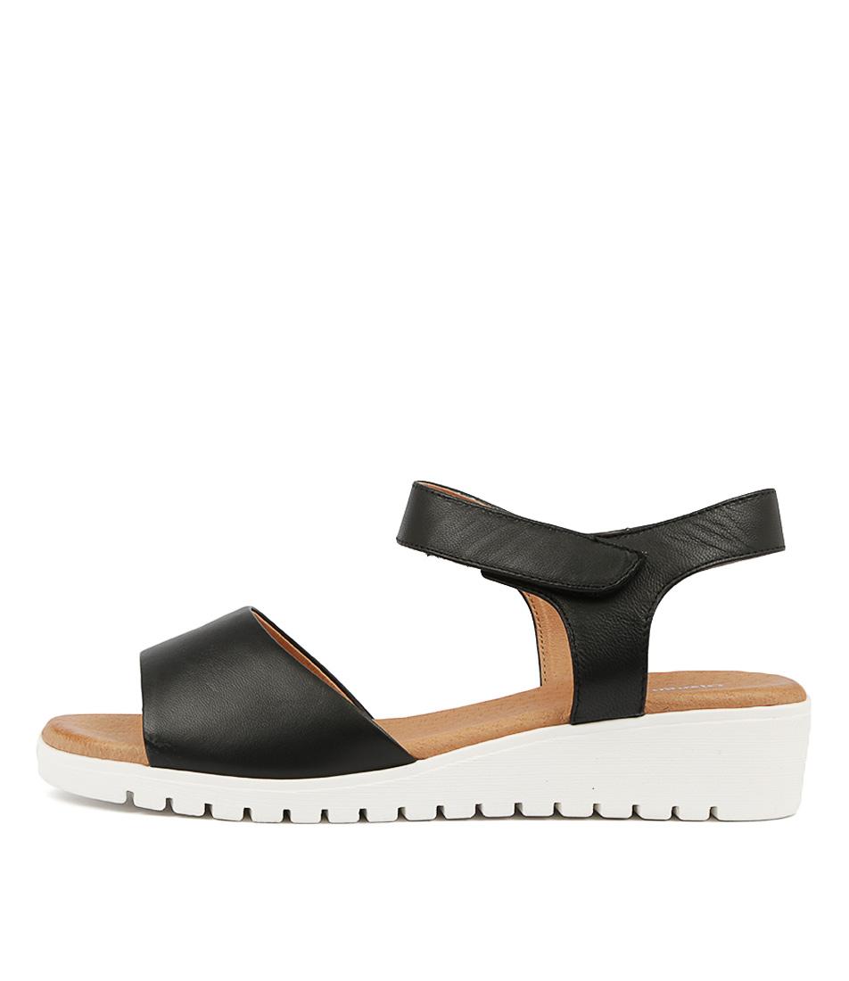 Buy Django & Juliette Multon Black White Sole Flat Sandals online with free shipping