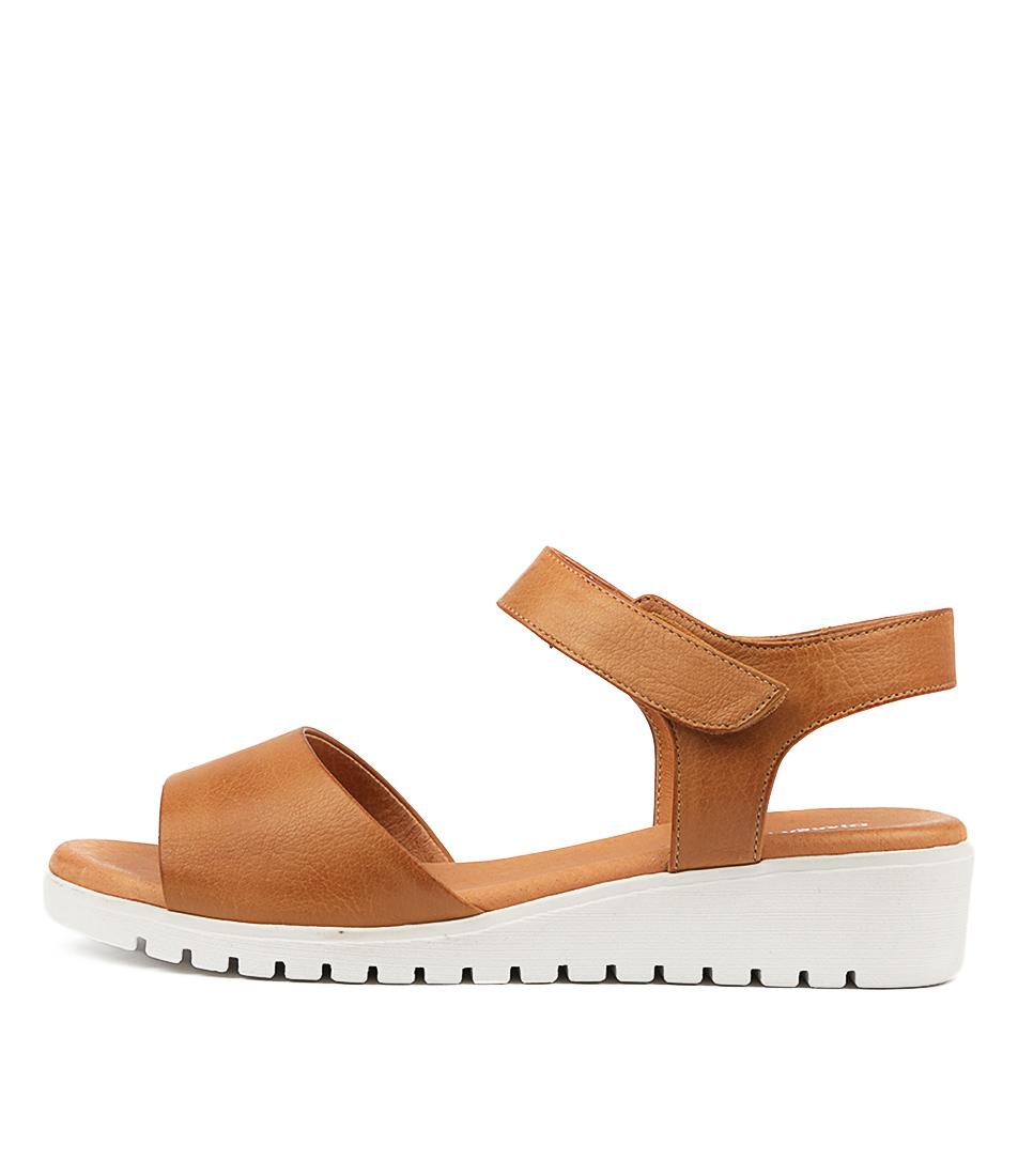 Buy Django & Juliette Multon Dk Tan Flat Sandals online with free shipping