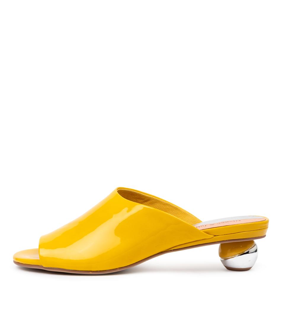 Buy Django & Juliette Daneen Yellow Heeled Sandals online with free shipping
