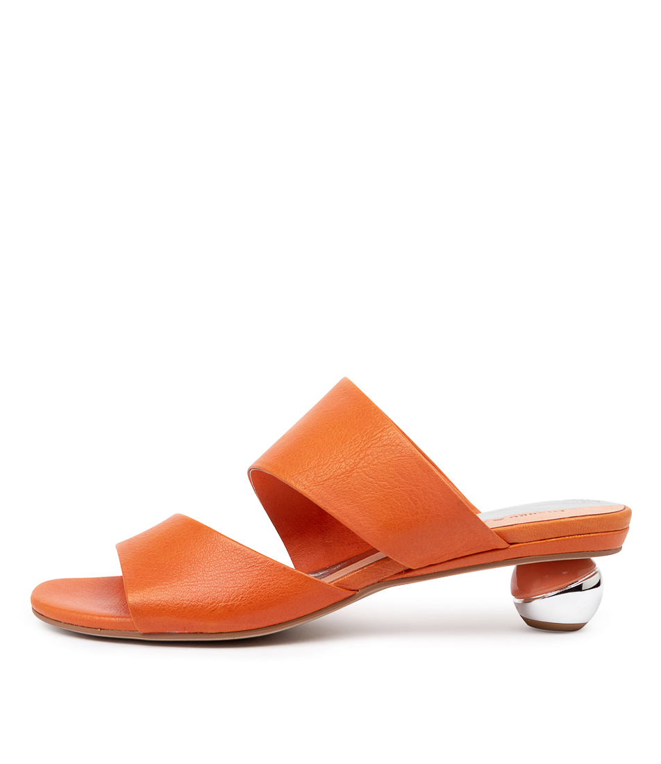 Buy Django & Juliette Delos Bright Orange Heeled Sandals online with free shipping