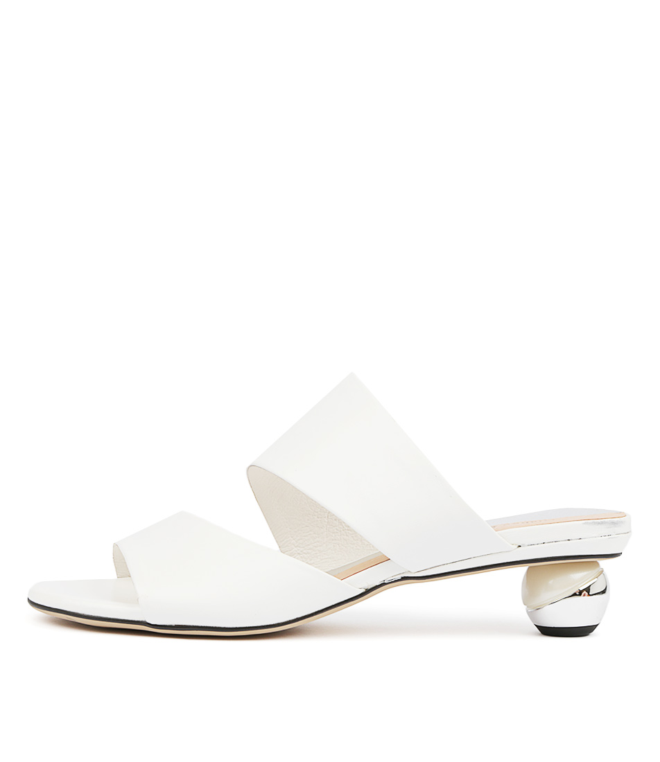 Buy Django & Juliette Delos White Heeled Sandals online with free shipping