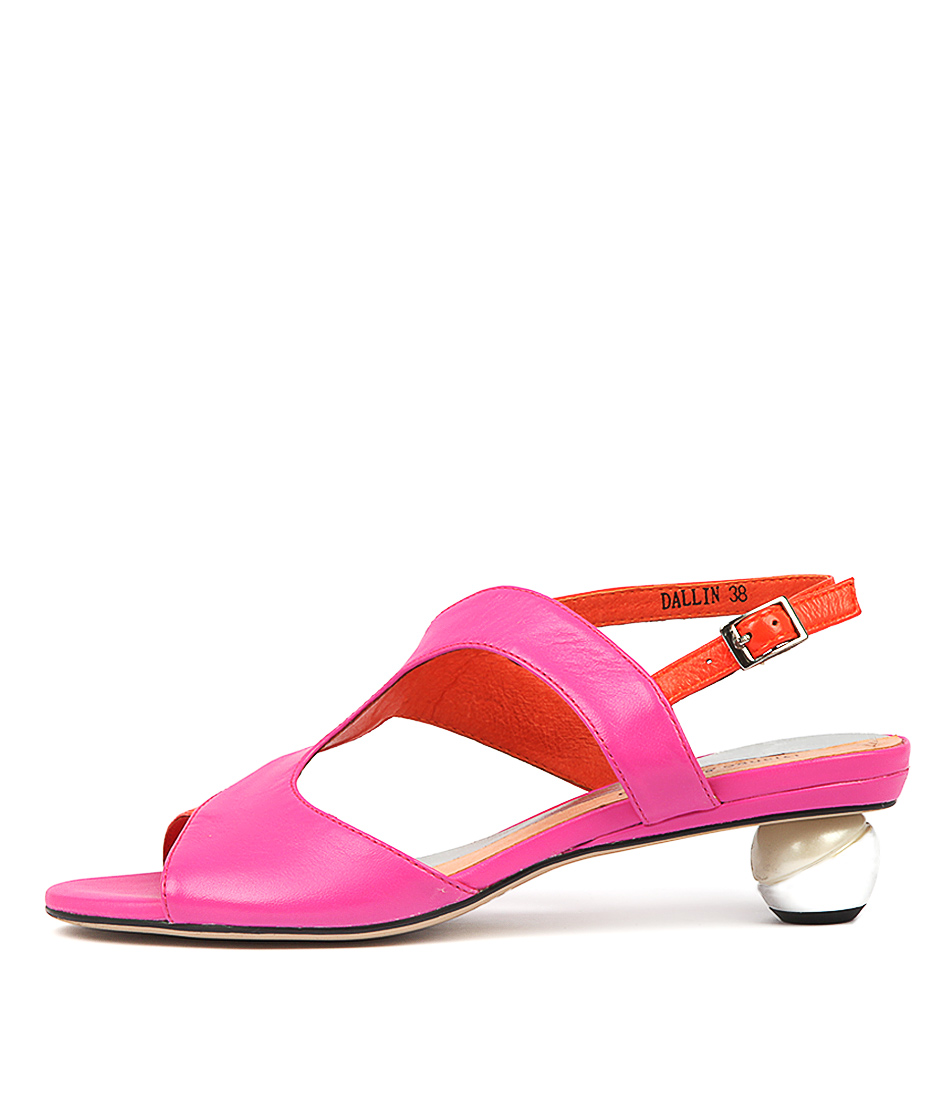 Buy Django & Juliette Dallin Hot Pink Hot Or Heeled Sandals online with free shipping