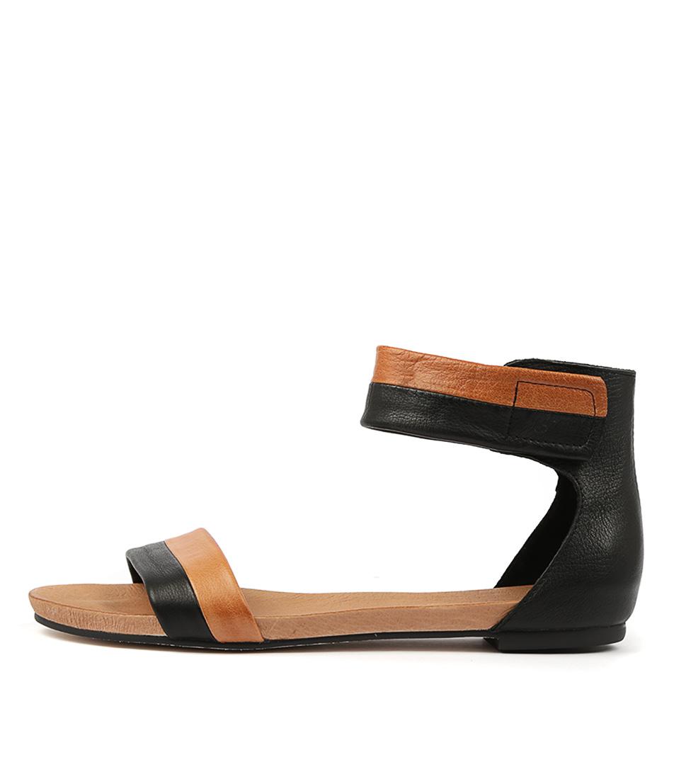 Buy Django & Juliette Jerold Black Tan Flat Sandals online with free shipping