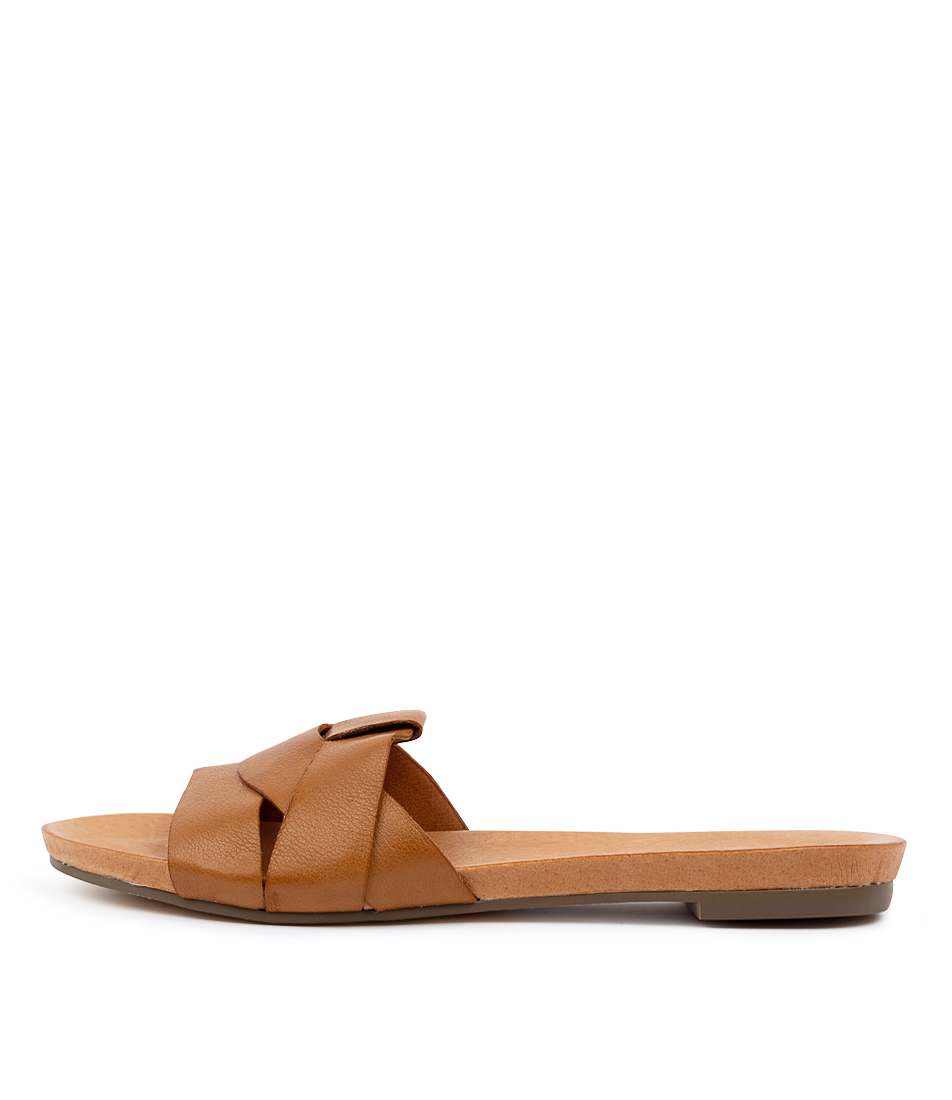 Buy Django & Juliette Just Dk Tan Flat Sandals online with free shipping