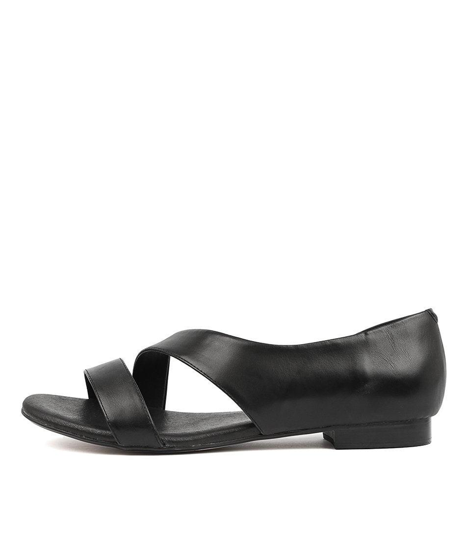 Buy Django & Juliette Purl Black Flat Sandals online with free shipping