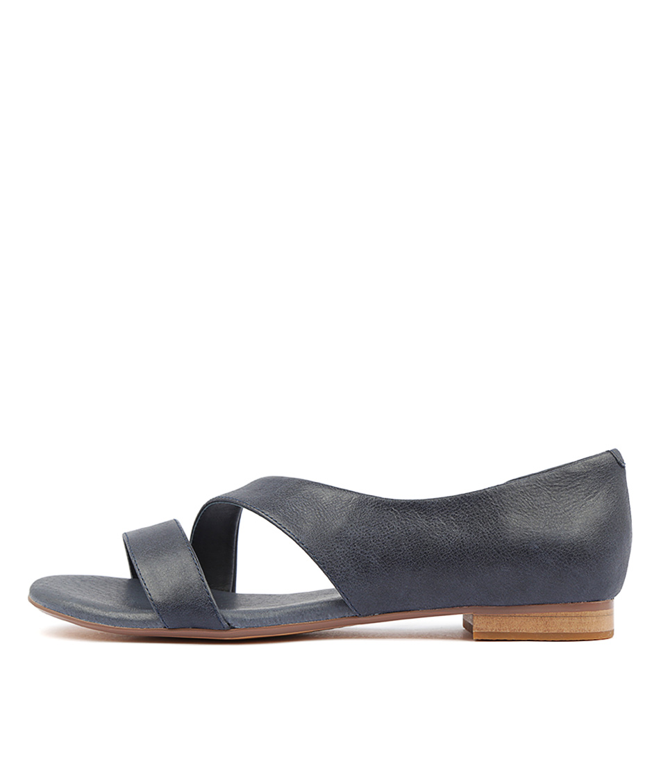 Buy Django & Juliette Purl Navy Flat Sandals online with free shipping