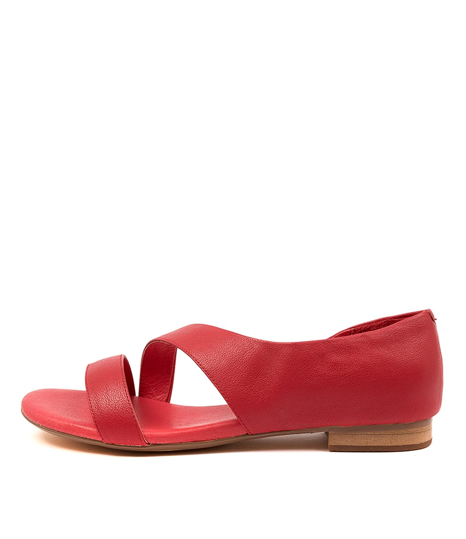 Buy Django & Juliette Purl Red Flat Sandals online with free shipping