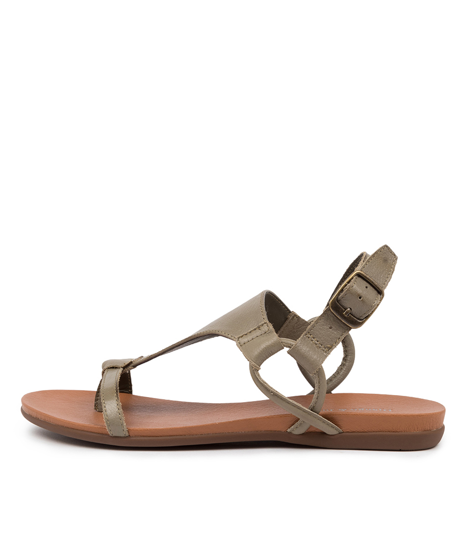 Buy Django & Juliette Barisha Khaki Flat Sandals online with free shipping