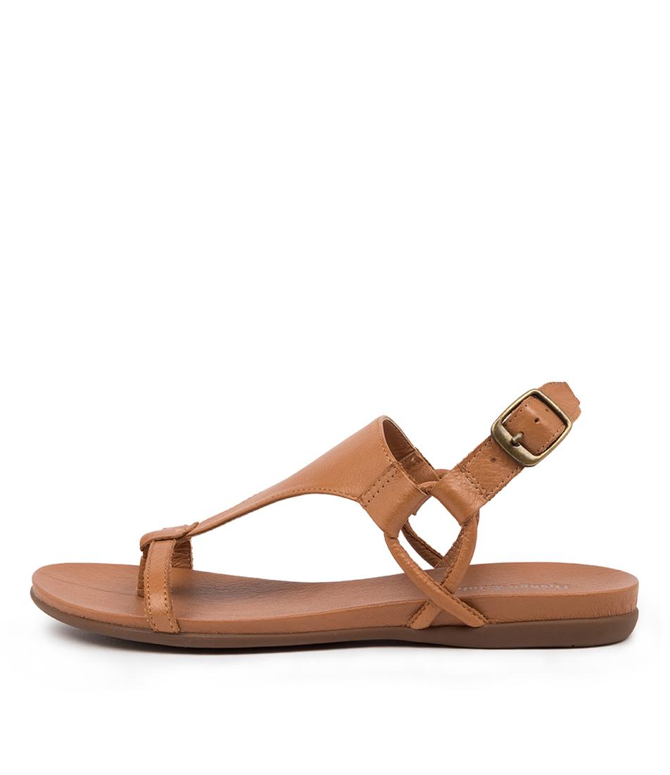 Buy Django & Juliette Barisha Dk Tan Flat Sandals online with free shipping