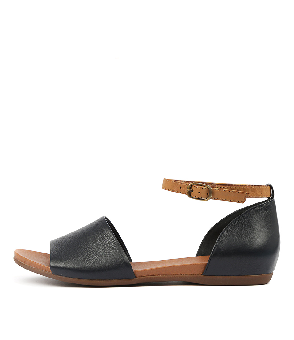 Buy Django & Juliette Bimere Navy Tan Flat Sandals online with free shipping