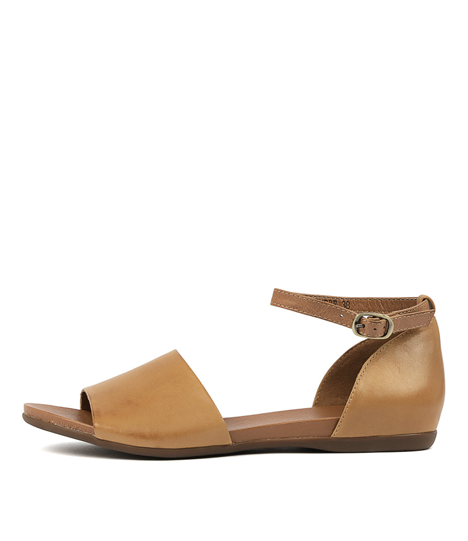 Buy Django & Juliette Bimere Tan Dk Tan Flat Sandals online with free shipping