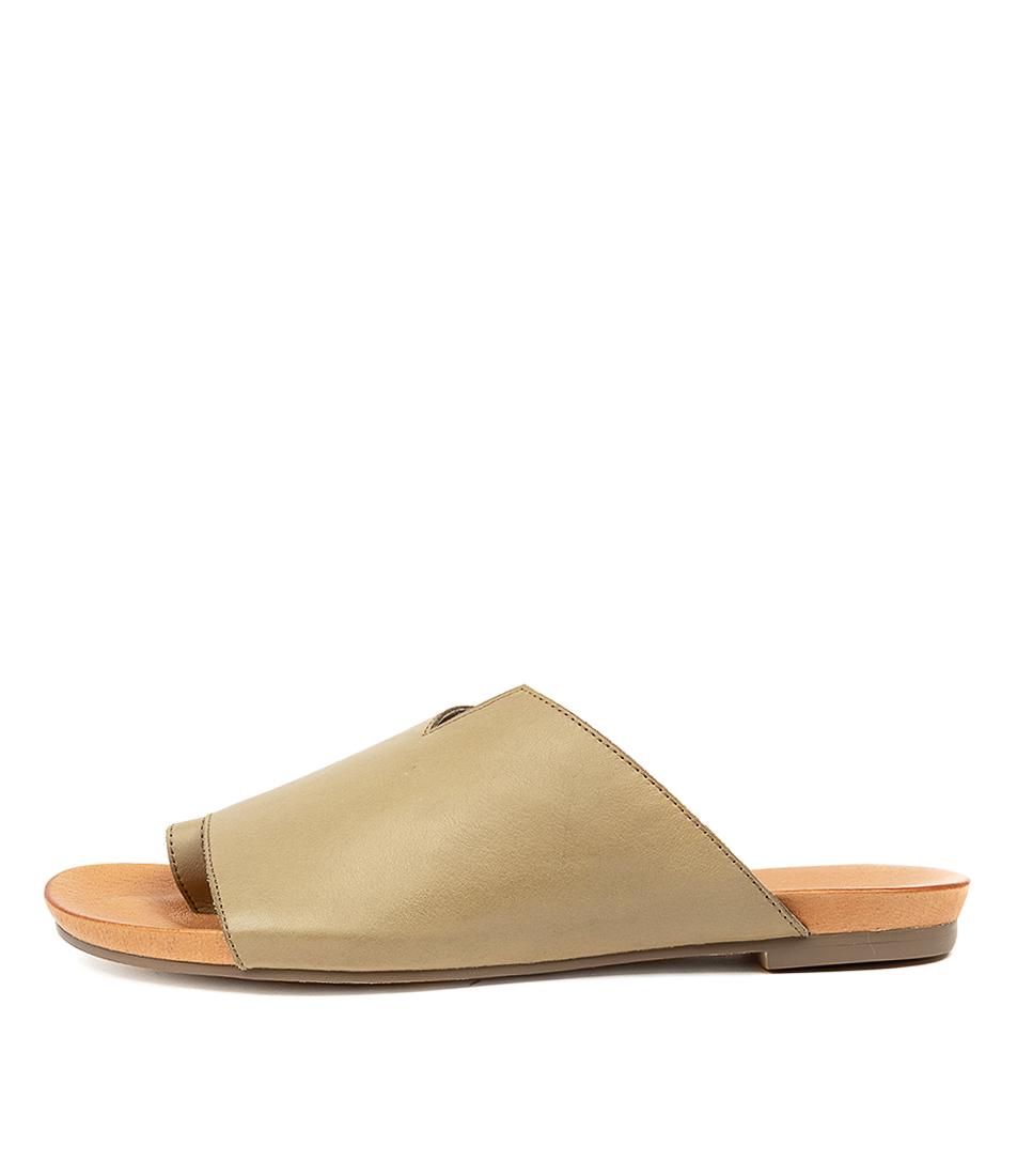 Buy Django & Juliette Jule Khaki Flat Sandals online with free shipping