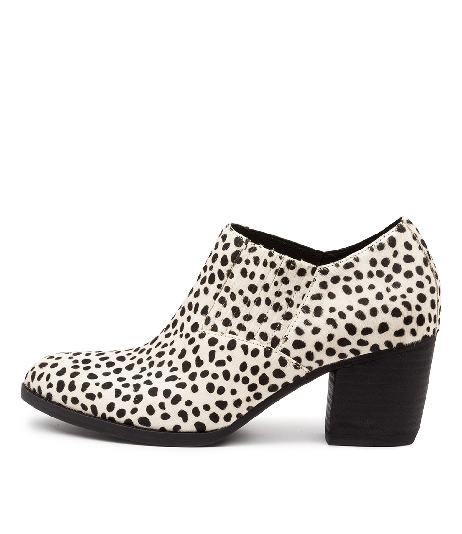 Buy Django & Juliette Bethzy White & Black Dot High Heels online with free shipping