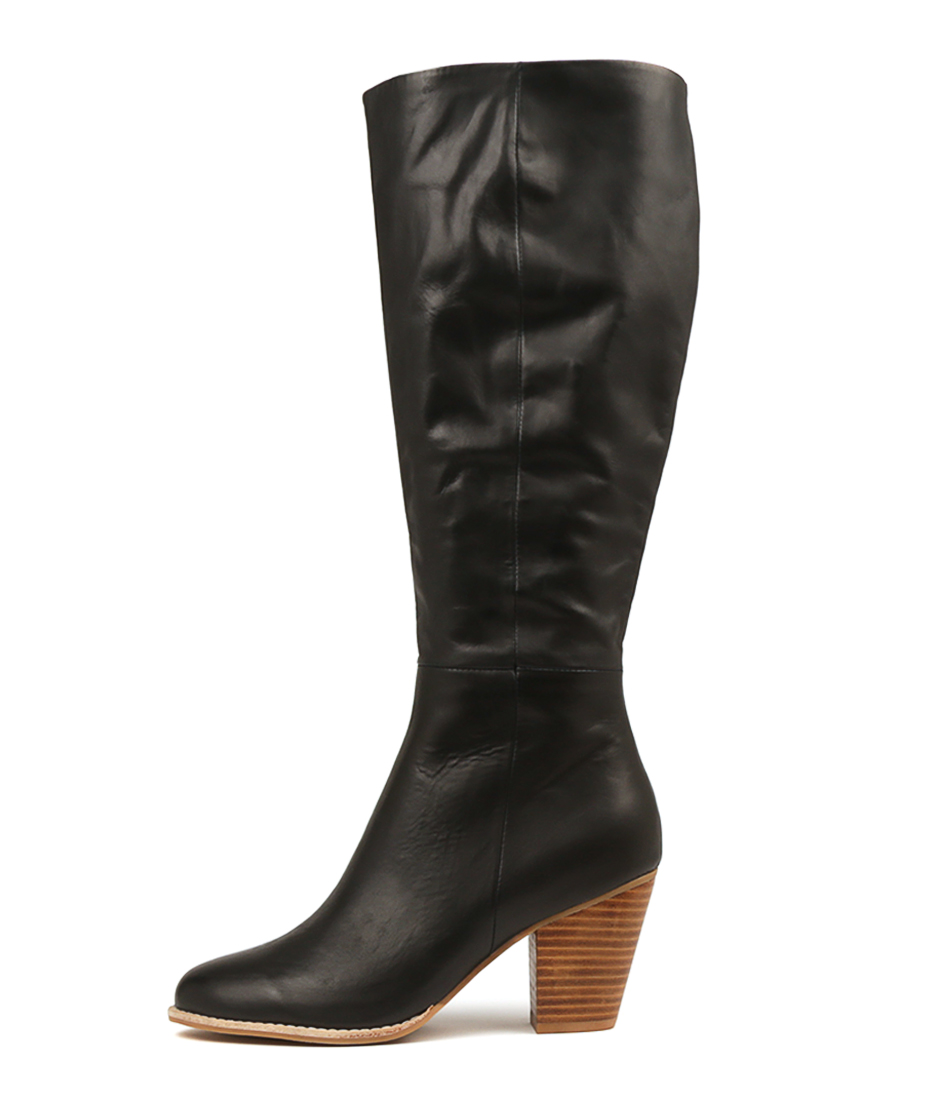 Buy Django & Juliette Carmine Black Natural Heel Boots online with free shipping