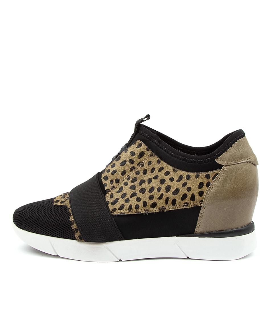 Buy Django & Juliette Deasia Black Khaki Sneakers online with free shipping