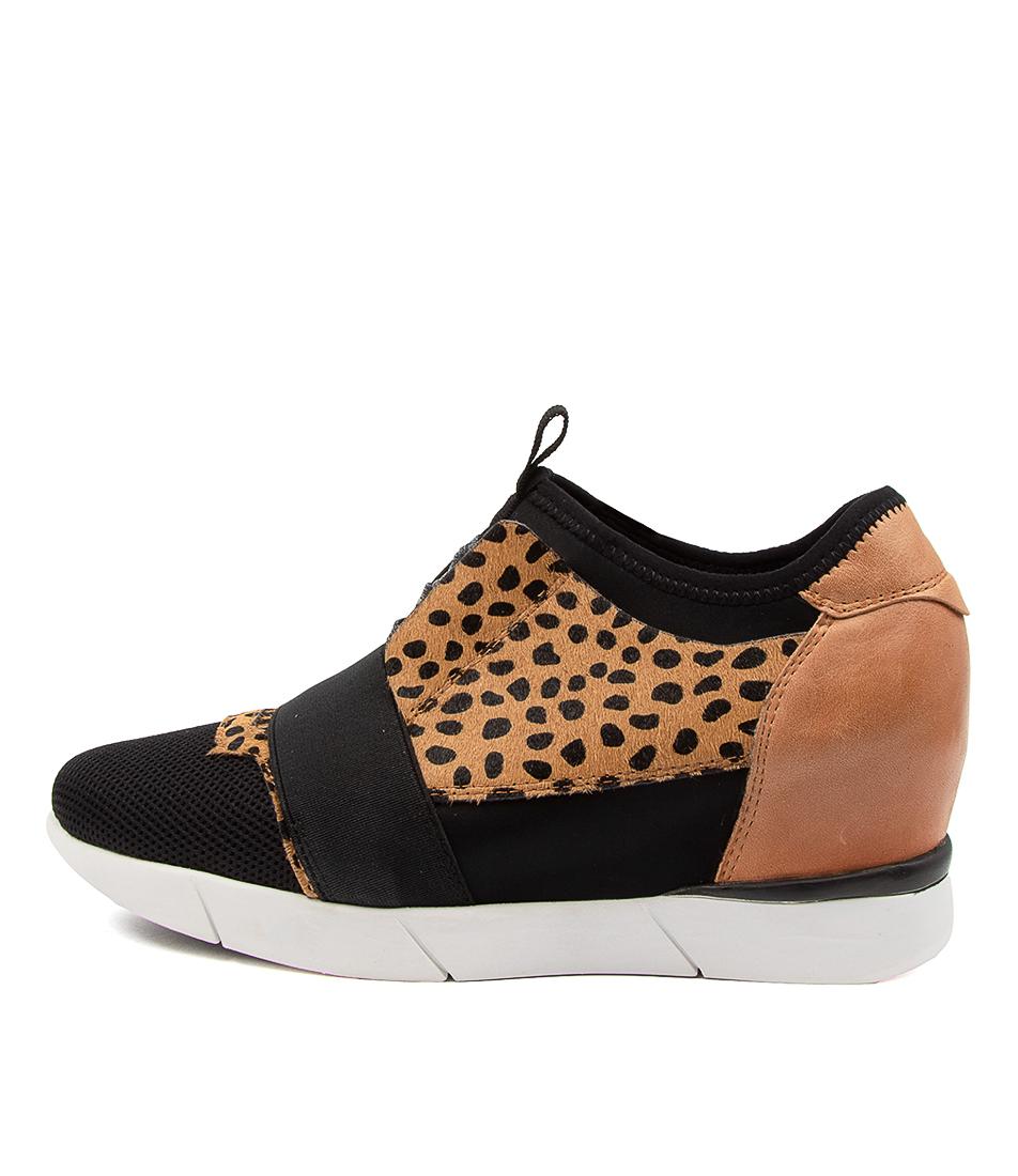 Buy Django & Juliette Deasia Black Dk Tan Sneakers online with free shipping