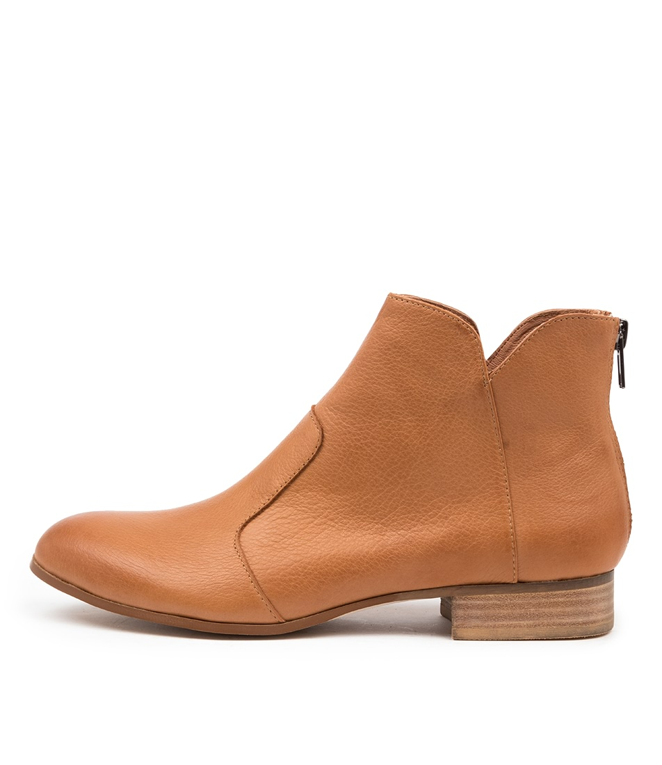Buy Django & Juliette Fronia Dk Tan Ankle Boots online with free shipping