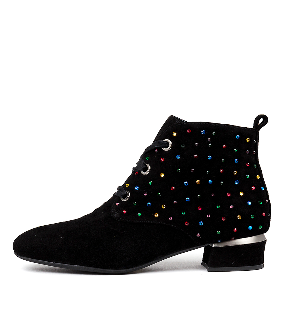 Buy Django & Juliette Gerald Black Bright Multi Ankle Boots online with free shipping