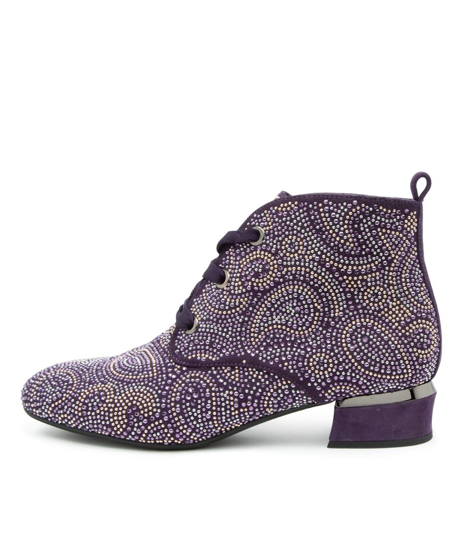 Buy Django & Juliette Grossia Purple Dress Ankle Boots online with free shipping