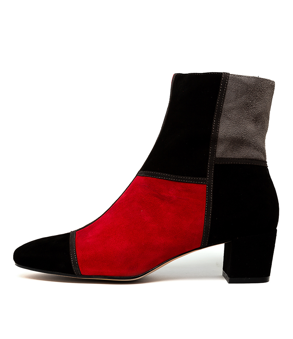 Buy Django & Juliette Henri Black & Red Ankle Boots online with free shipping