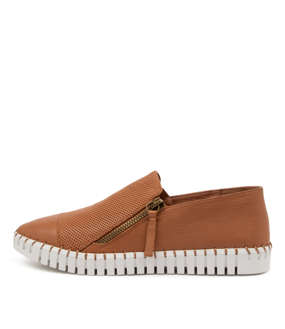 Buy Django & Juliette Hung Dk Tan White So Sneakers online with free shipping
