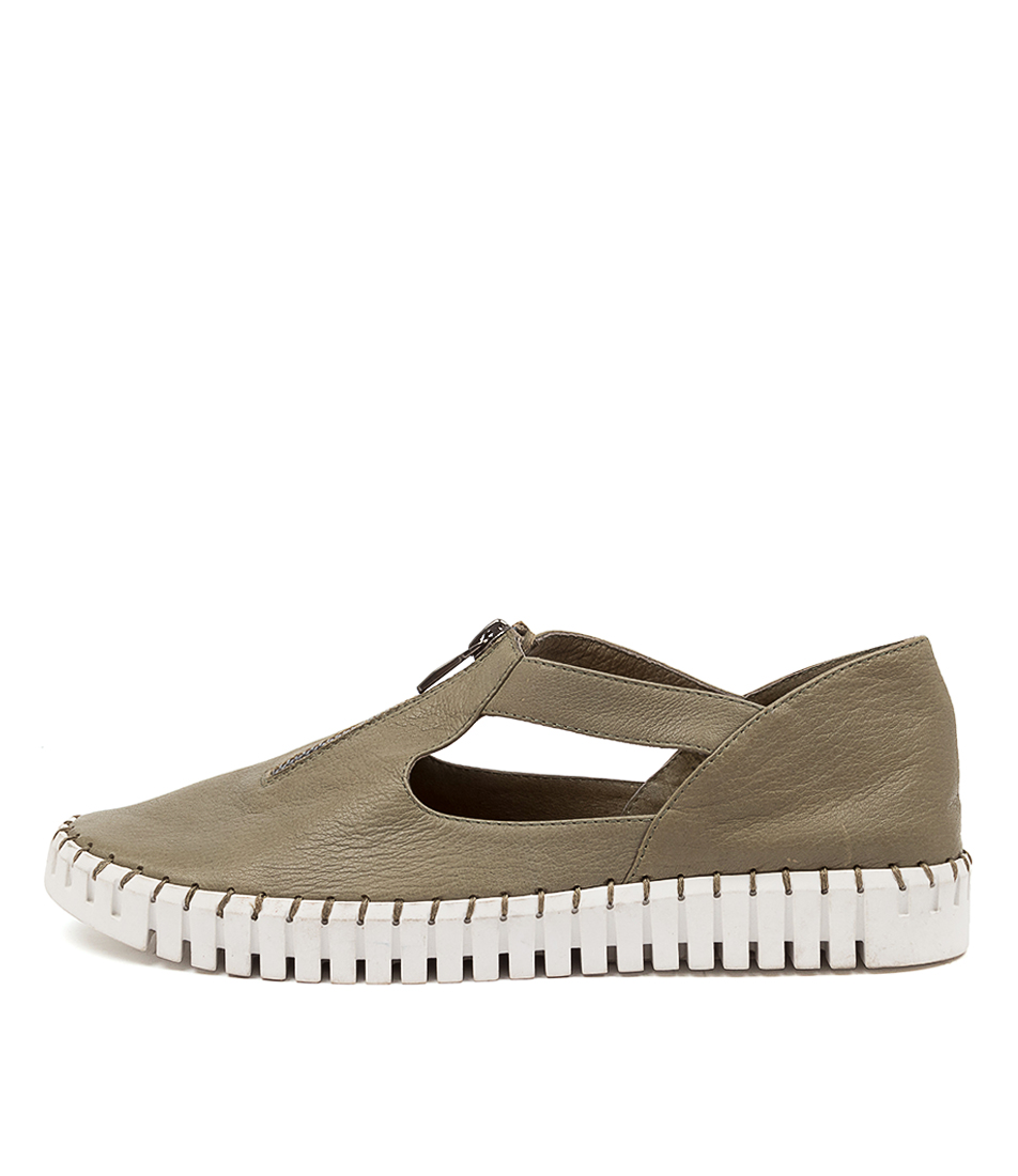 Buy Django & Juliette Hunting Olive White Sole Sneakers online with free shipping