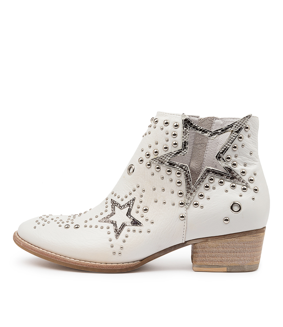 Buy Django & Juliette Liston White Black & White Ankle Boots online with free shipping