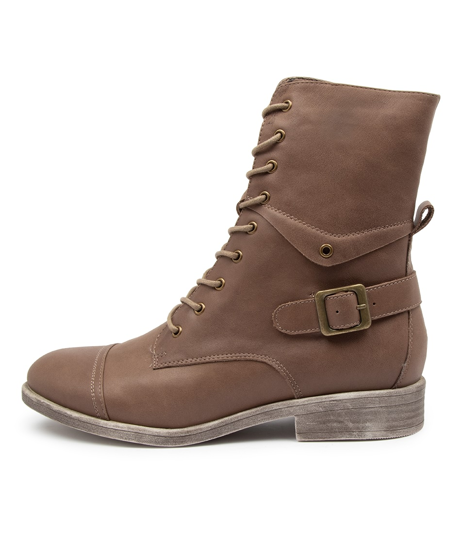 Buy Django & Juliette Mekhi Taupe Ankle Boots online with free shipping