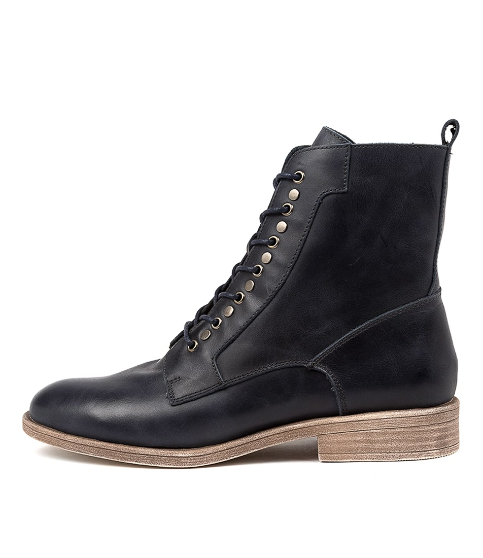 Buy Django & Juliette Menzel Navy Ankle Boots online with free shipping
