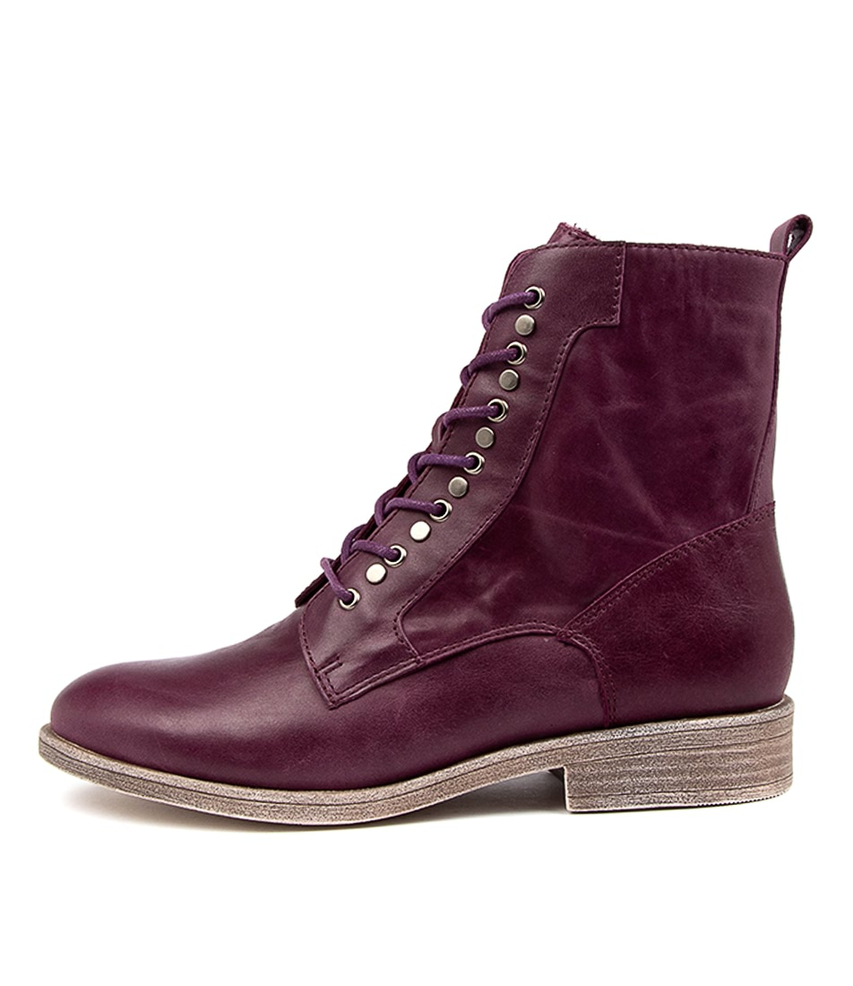 Buy Django & Juliette Menzel Purple Ankle Boots online with free shipping