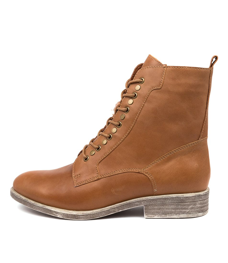 Buy Django & Juliette Menzel Tan Ankle Boots online with free shipping