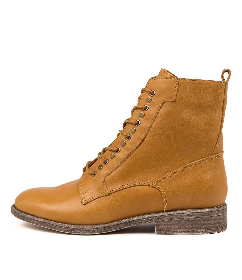 Buy Django & Juliette Menzel Mustard Ankle Boots online with free shipping