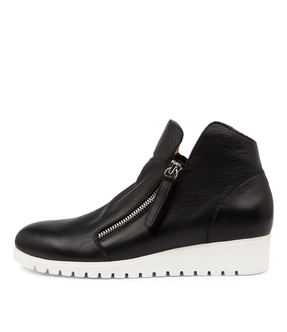 Buy Django & Juliette Nathen Black White Sole Ankle Boots online with free shipping