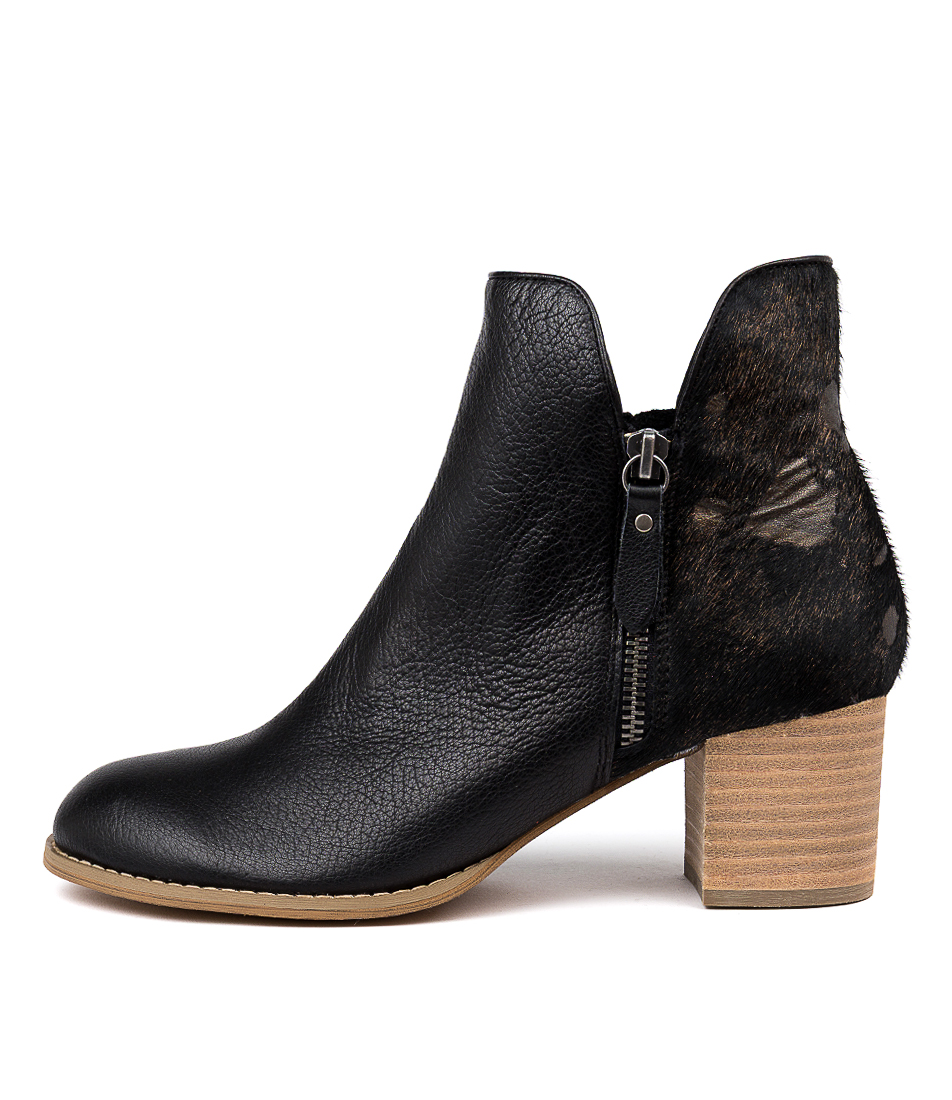Buy Django & Juliette Shiannely Black & Bro Ankle Boots online with free shipping