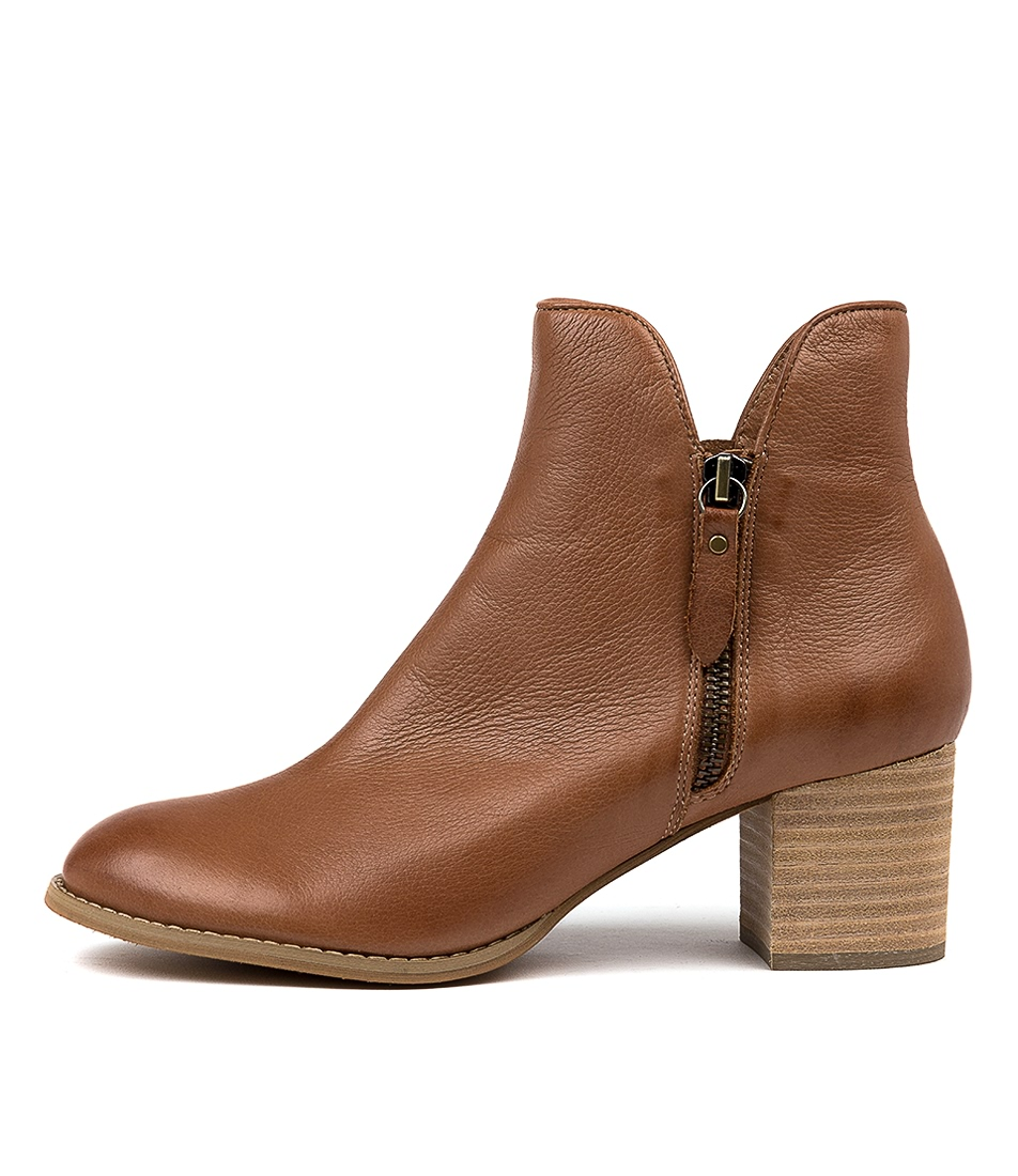 Buy Django & Juliette Shiannely Cognac Ankle Boots online with free shipping