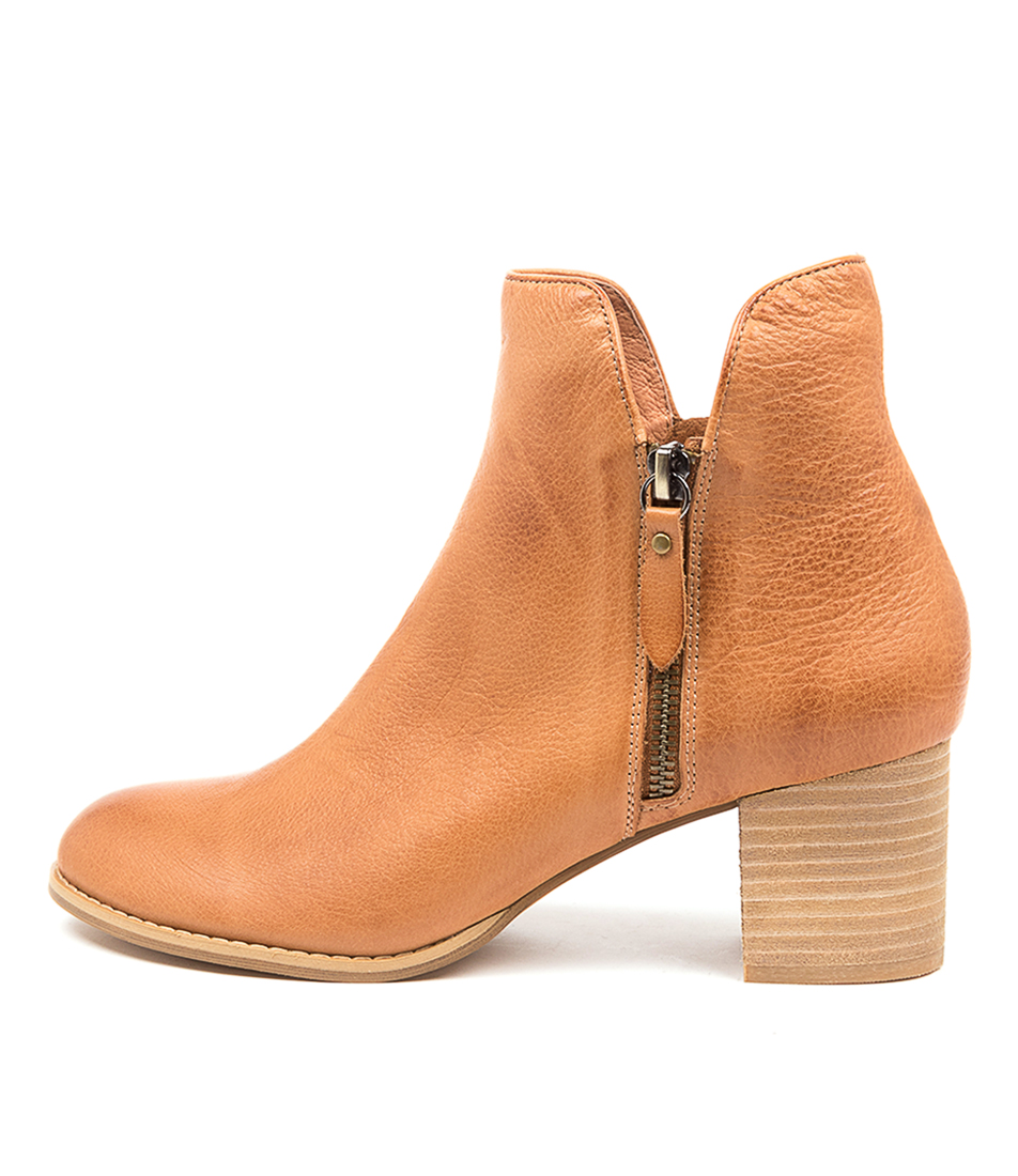 Buy Django & Juliette Shiannely Dk Tan Ankle Boots online with free shipping