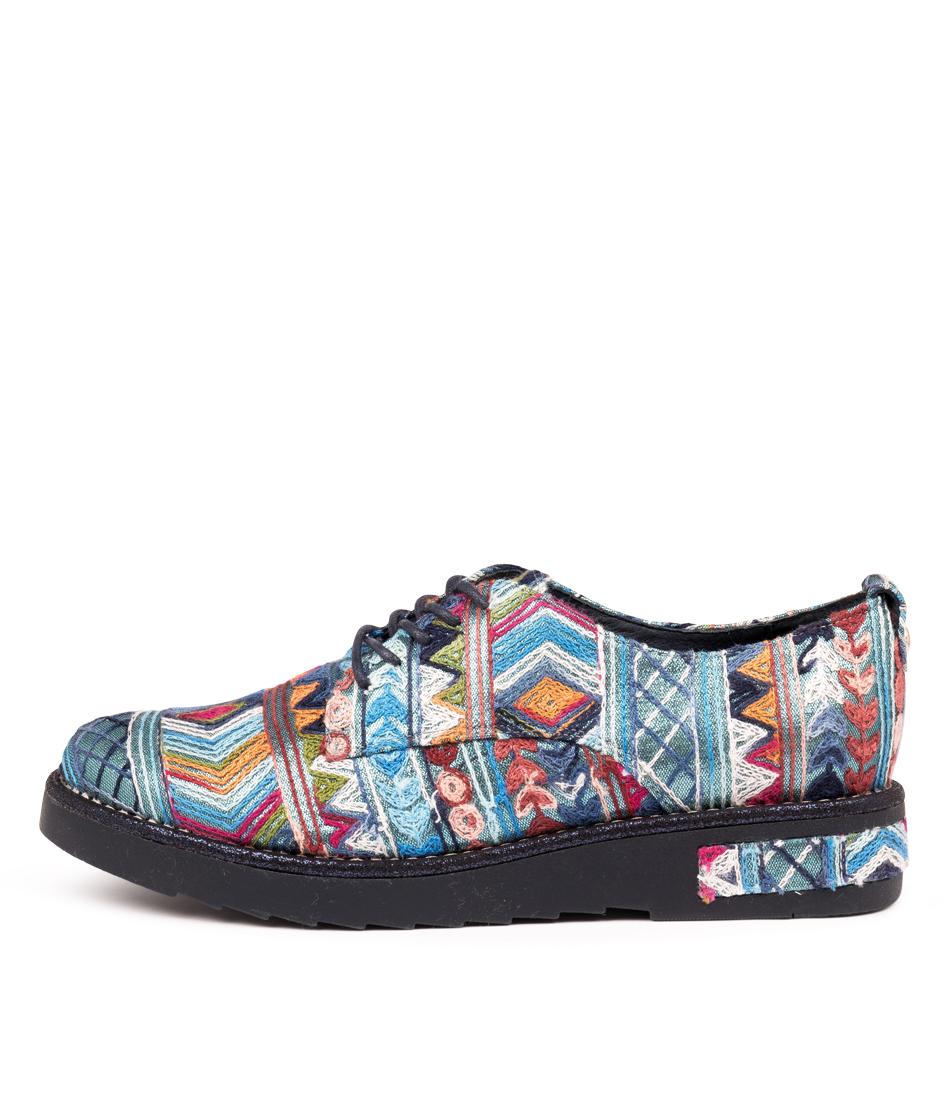 Buy Django & Juliette Rozas Navy & Navy High Heels online with free shipping