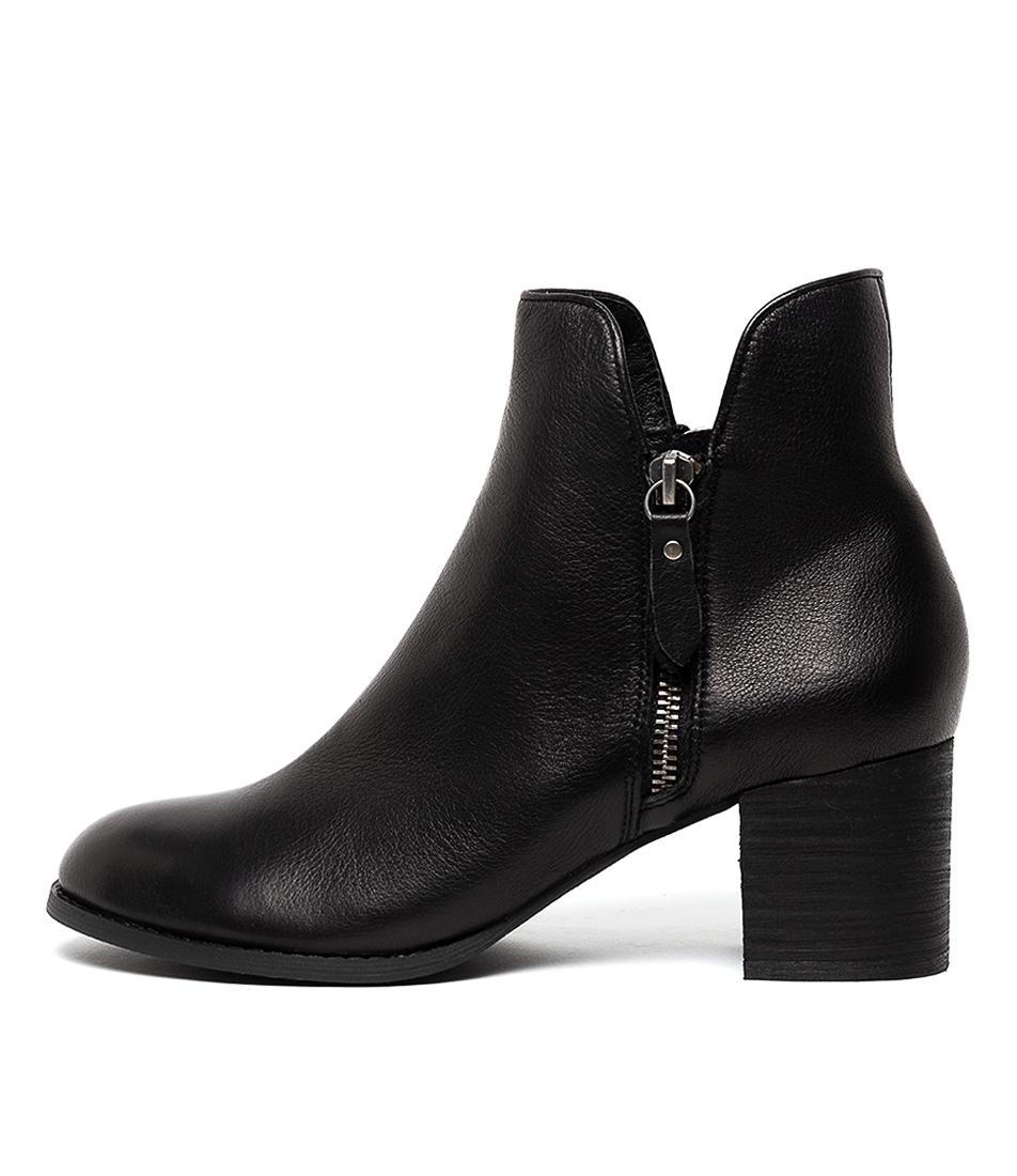 Buy Django & Juliette Shiannely Lrg Black Heel Ankle Boots online with free shipping