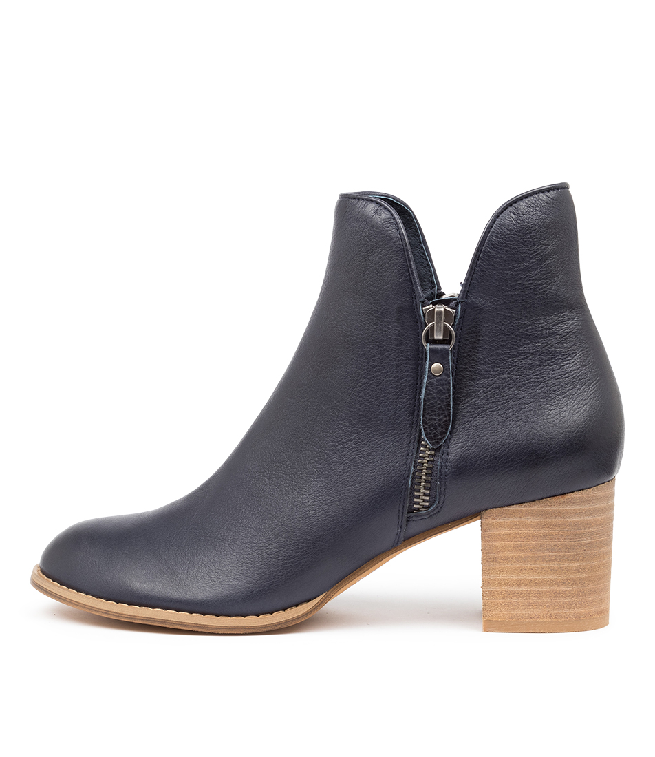 Buy Django & Juliette Shiannely Lrg Navy Ankle Boots online with free shipping