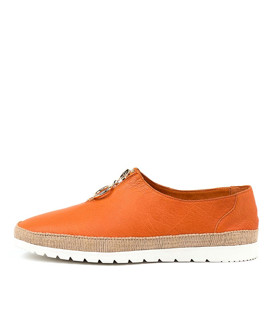 Buy Django & Juliette Vassie Orange Flats online with free shipping