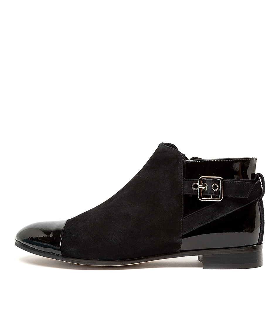 Buy Django & Juliette Jesie Black Ankle Boots online with free shipping
