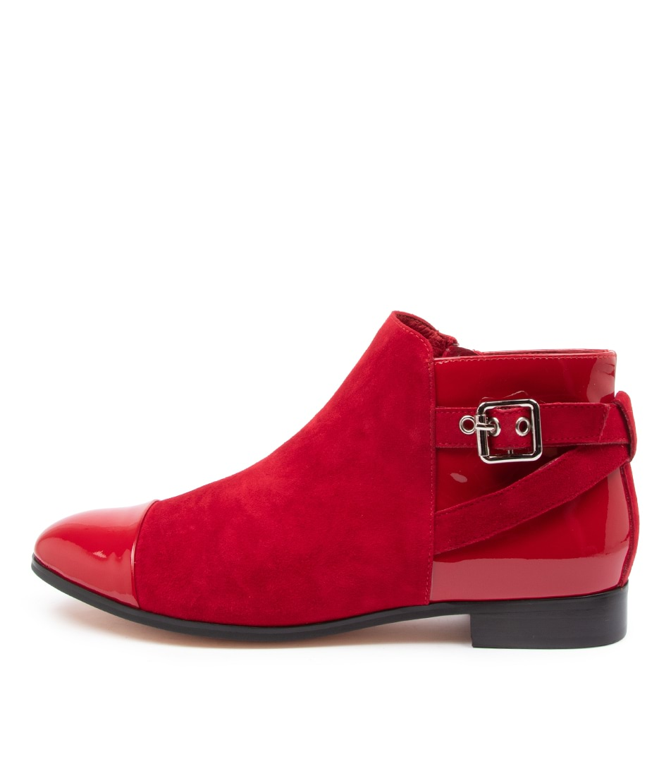 Buy Django & Juliette Jesie Red Ankle Boots online with free shipping